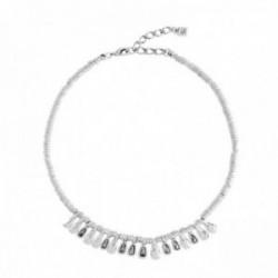 Gargantilla Unode50 GLAMATIC metal chapado plata lágrimas  [AC0874]