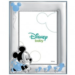 Marco portafotos plata Ley 925m Disney 18x13cm. Mickey [AB9993]