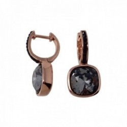 Pendientes plata Ley rosada 24.2mm. GLAMOUR 925 by SWAROVSKI [AC0740]