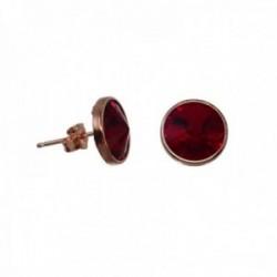 Pendientes plata Ley rosada GLAMOUR 925 by SWAROVSKI 11.4mm. [AC0746]