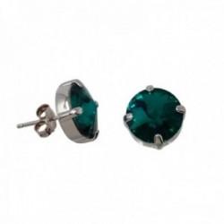 Pendientes plata Ley GLAMOUR 925 by SWAROVSKI 11mm. verde [AC0748]