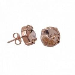 Pendientes plata Ley rosada GLAMOUR 925 by SWAROVSKI 11mm. [AC0750]