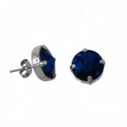 Pendientes plata Ley GLAMOUR 925 by SWAROVSKI azul 11mm. [AC0751]