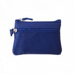 Monedero NIZA piel cremallera azul [AC0808]