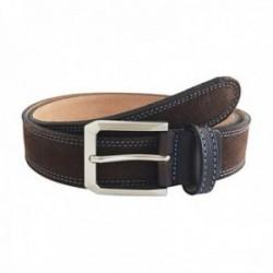 Cinturón piel serraje cosido marrón [AC0835]