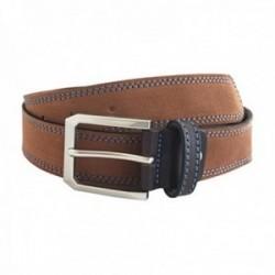 Cinturón piel serraje cosido cuero [AC0837]