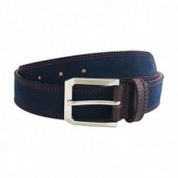 Cinturón piel serraje cosido azul [AC0838]