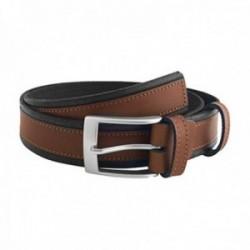 Cinturón piel cosido marrón  [AC0839]
