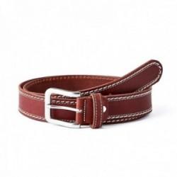 Cinturón piel SAUVAGE doble cosido cuero [AC0770]