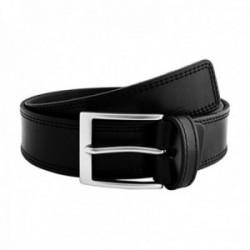 Cinturón piel URBAN cosido negro [AC0771]
