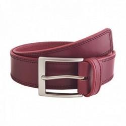 Cinturón piel URBAN cosido burdeos [AC0774]