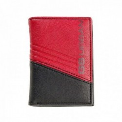 Cartera billetero COMBINATION bicolor rojo [AC0781]