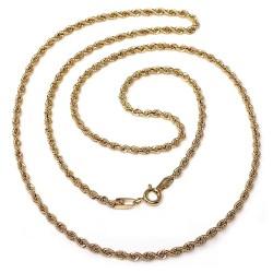 Cordón oro 18k salomónico 50cm. ligero [AB8978]