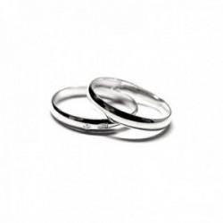 Alianza plata Ley 925m lisa grosor 3mm. brillo [AC0239GR]