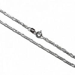 Cadena plata Ley 925m 50cm. modelo eslabón alternada 3x1 [AC0257]