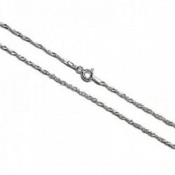 Cadena plata Ley 925m lisa 40cm. modelo singapur [AC0298]