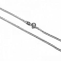 Cadena plata Ley 925m lisa 60cm. modelo bilbao [AC0299]