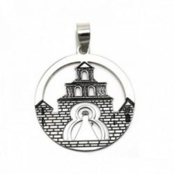 Colgante plata Ley 925m medalla Santuario Virgen de la Cabeza [AC0324]
