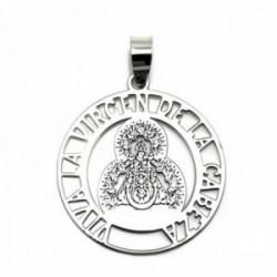 Colgante plata Ley 925m medalla 25mm. Virgen de la Cabeza [AC0325]