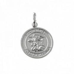 Colgante plata Ley 925m medalla 20mm. San Miguel cerco [AC0386]