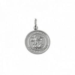 Colgante plata Ley 925m medalla 15mm. San Miguel cerco [AC0388]