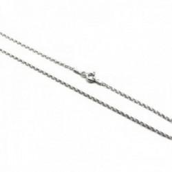 Cadena plata Ley 925m rolo 45cm. cierre reasa [AC0398]