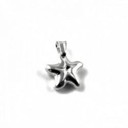 Colgante plata Ley 925m motivo estrella mar 15mm. liso [AC0449]
