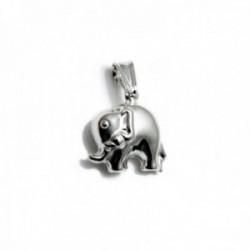 Colgante plata Ley 925m motivo elefante 15mm. liso [AC0450]