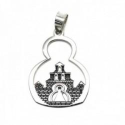 Colgante plata Ley 925m medalla 28mm. Santuario Virgen Cabeza [AC0464]