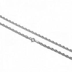 Cadena plata Ley 925m 50cm. modelo calabrote lisa ancho 2.75mm. unisex