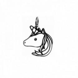 Colgante plata Ley 925m motivo unicornio 20mm. liso [AC0493]
