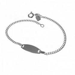 Esclava plata Ley 925m infantil 16cm. cadena barbada [AC0526GR]