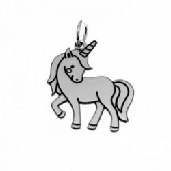 Colgante plata Ley 925m unicornio 20mm. liso [AC0538]