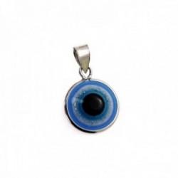 Colgante plata Ley 925m motivo ojo turco 12mm. piedra [AC0653]