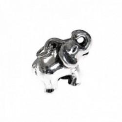 Colgante plata Ley 925m elefante 23mm. electroforming liso [AC0684]