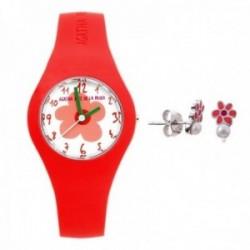 Juego Agatha Ruiz de la Prada reloj AGR220 pendientes plata [AB9806]