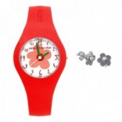 Juego Agatha Ruiz de la Prada reloj AGR220 pendientes plata [AB9807]