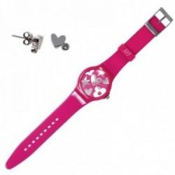 Juego Agatha Ruiz de la Prada reloj AGR217P pendientes plata [AB9808]