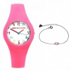 Juego Agatha Ruiz de la Prada reloj AGR223 pulsera plata [AB9809]