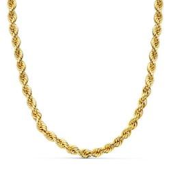 Cordón cadena oro 18k salomónico 60cm. normal 5mm. [AA1586]