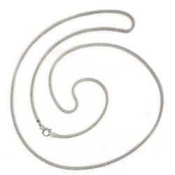 Cadena plata Ley 925m 60 cm. coreana 1,80 mm. [AB3630]