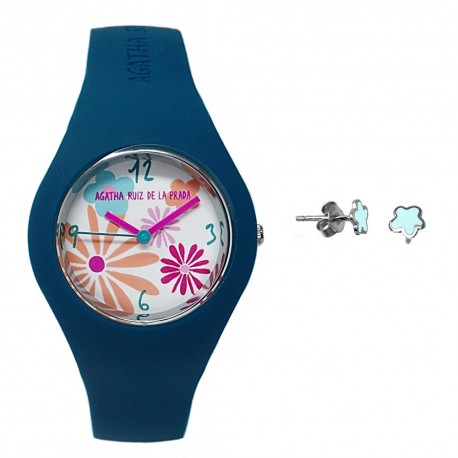 Juego Agatha Ruiz de la Prada reloj AGR226 pendientes plata [AB6029]