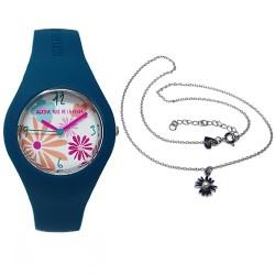 Juego Agatha Ruiz de la Prada reloj AGR226 gargantilla plata [AB9353]