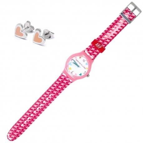 Juego Agatha Ruiz de la Prada reloj AGR200 pendientes plata [AB7236]