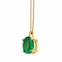 Gargantilla oro 18k cadena 42cm. esmeralda 0.79ct. [AC0920]