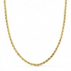 Cordón oro 18k salomónico 60cm. ligero ancho 3mm. [AC0925]