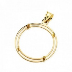 Colgante oro 18k para moneda 22mm. borde [AC0980]