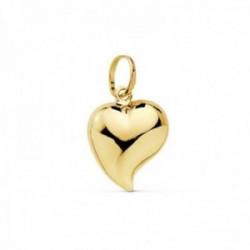 Colgante oro 18k motivo corazón 13mm. liso [AC1003]