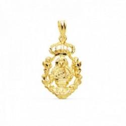 Colgante oro 18k Virgen de la Cabeza 21mm. calado silueta [AC1006]