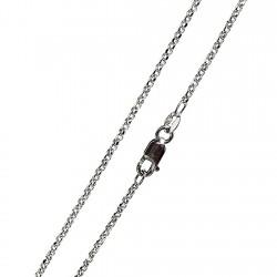 Cadena oro blanco 40cm. rolon mini [4781]